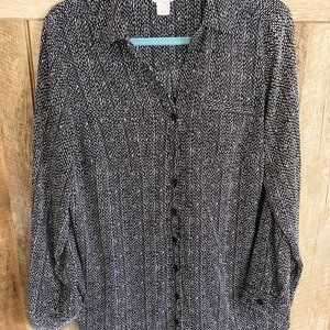 Career Blouse by Christopher Banks size Large